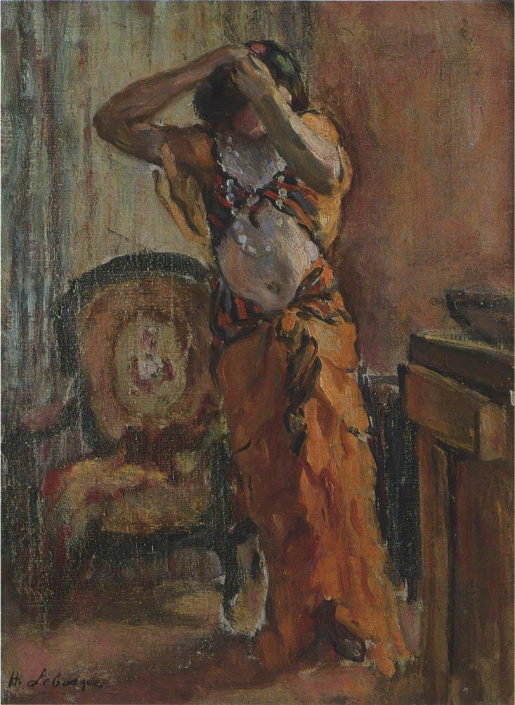 A woman dressing | Henri Lebasque | oil painting