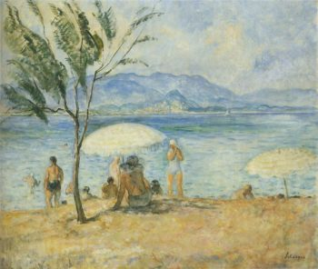 By the sea 2   Henri Lebasque   oil painting