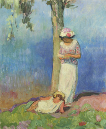 By the Tree   Henri Lebasque   oil painting