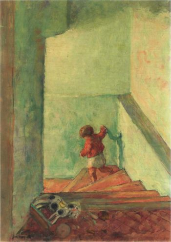 Child on the Stairs   Henri Lebasque   oil painting