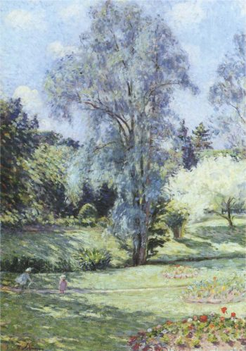 Child Playing in the Garden   Henri Lebasque   oil painting