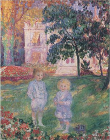 Children in the garden   Henri Lebasque   oil painting