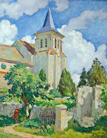 Church at Montevrain   Henri Lebasque   oil painting