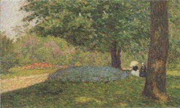 Conversation in the Park   Henri Lebasque   oil painting