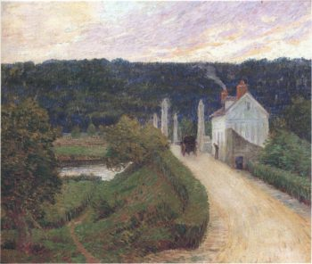 Country Road Bridge and Carriage   Henri Lebasque   oil painting