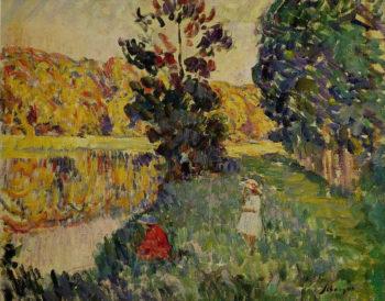 Fishing at St Pierre   Henri Lebasque   oil painting
