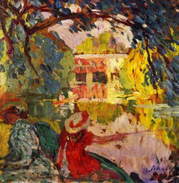 Fishing party   Henri Lebasque   oil painting
