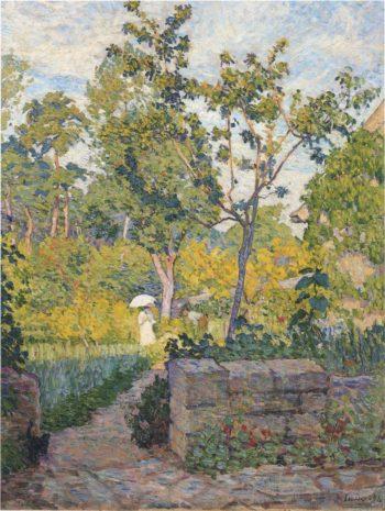 Garden at Champigny   Henri Lebasque   oil painting