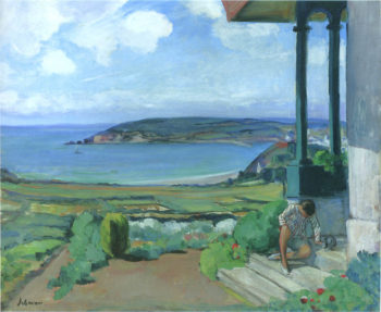 Garden by the Bay of Morgat   Henri Lebasque   oil painting