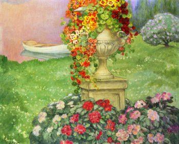 Garden with Urn   Henri Lebasque   oil painting