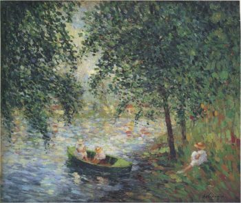 Girls by the River   Henri Lebasque   oil painting