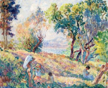 Girls in a Landscape near St Tropez   Henri Lebasque   oil painting