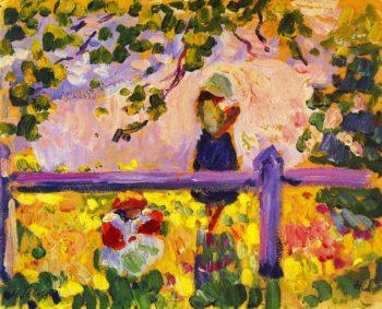 Girls in the Garden   Henri Lebasque   oil painting