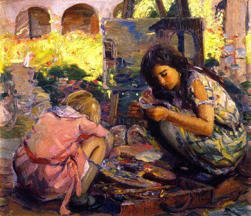 Curiosity 1 | Joseph Kleitsch | oil painting