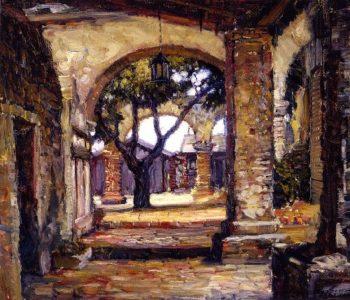 Cloister Mission San Juan Capistrano | Joseph Kleitsch | oil painting