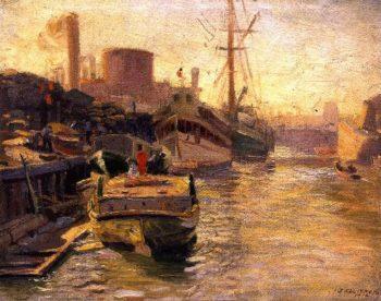 Chicago River | Joseph Kleitsch | oil painting