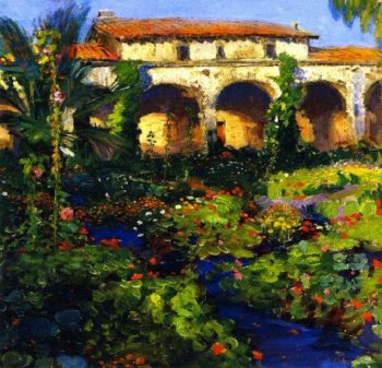 Capistrano Courtyard | Joseph Kleitsch | oil painting