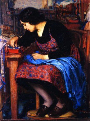 Blue Thread | Joseph Kleitsch | oil painting