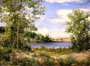 A View Across the Lake Saugatuck Michigan | Joseph Kleitsch | oil painting