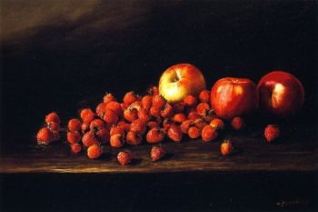 Apples and Strawberries | Joseph Kleitsch | oil painting