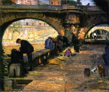 Along the Seine Paris | Joseph Kleitsch | oil painting