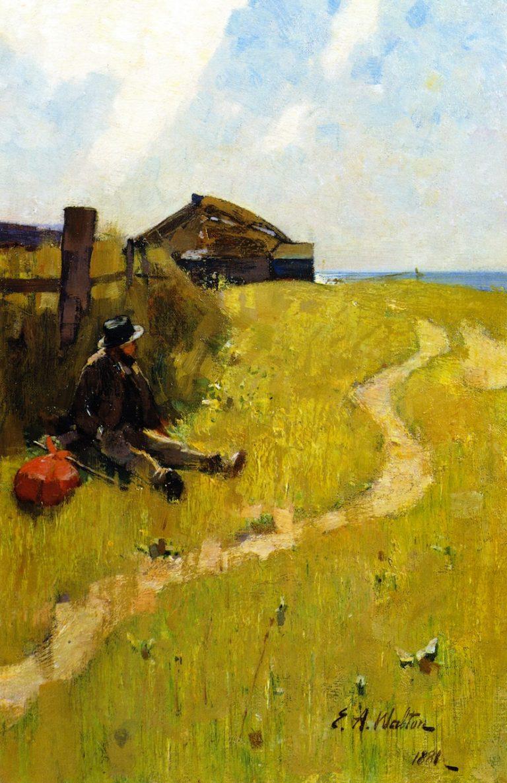 The Wayfarer | Edward Arthur Walton | oil painting