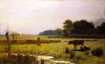 A Surrey Meadow Morning | Edward Arthur Walton | oil painting