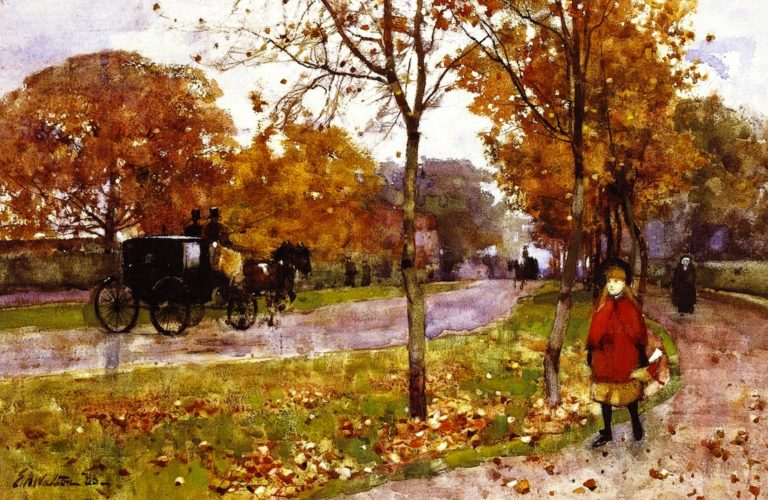 Victoria Road Helensburgh | Edward Arthur Walton | oil painting