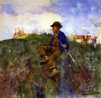 The Herd Boy | Edward Arthur Walton | oil painting