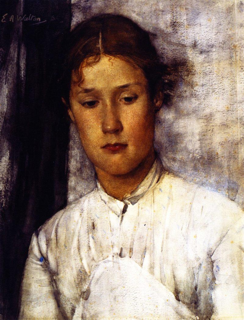 The Gamekeeper's Daughter   Edward Arthur Walton   oil painting