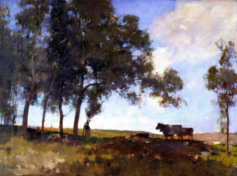 Autumn Sunshine   Edward Arthur Walton   oil painting