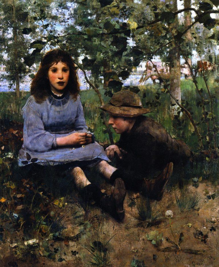 A Daydream | Edward Arthur Walton | oil painting