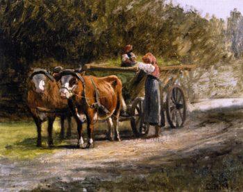 A Bavarian Team   Charles Henry Miller   oil painting