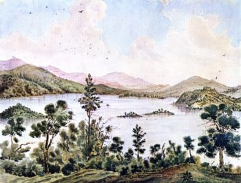 View from Foot of Mt Conoktai near Clear Lake California | James Madison Alden | oil painting