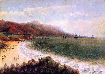 US Steamer Active and Schooner Ewing in Santa Barbara Channel | James Madison Alden | oil painting