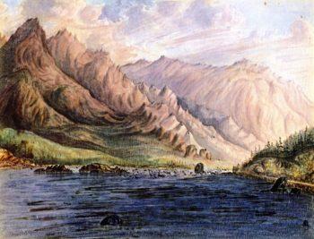 Rapids Columbia River | James Madison Alden | oil painting