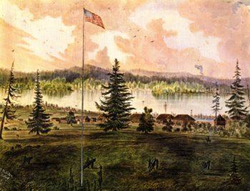 Fort Vancouver Oregon | James Madison Alden | oil painting