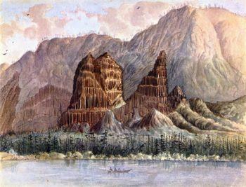 Cascades Columbia River below the Rapids | James Madison Alden | oil painting