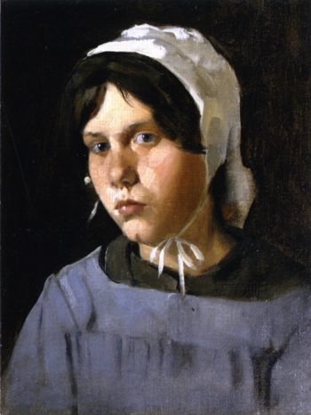 Young Peasant Girl | Julian Alden Weir | oil painting