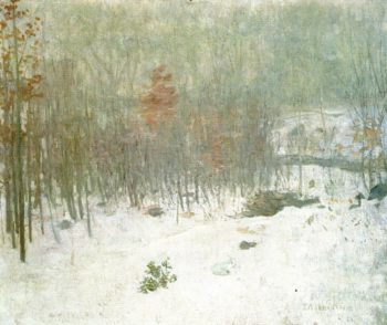 Woods in Snow | Julian Alden Weir | oil painting