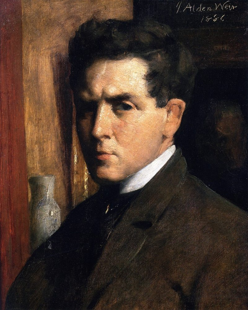 Self Portrait | Julian Alden Weir | oil painting