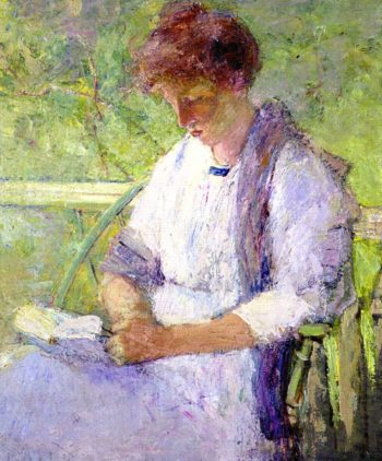 Portrait of Dorothy | Julian Alden Weir | oil painting