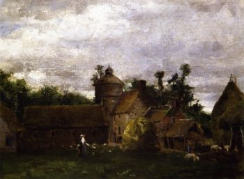 Normandy Farm | Julian Alden Weir | oil painting