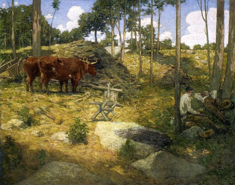 Midday Rest in New England | Julian Alden Weir | oil painting