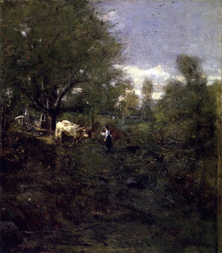 Landscape with Cattle | Julian Alden Weir | oil painting