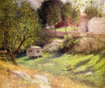 Branchville the Palace Car | Julian Alden Weir | oil painting