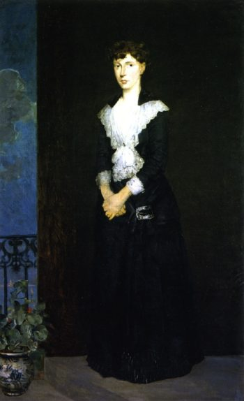 Anna on the Balcony of Duveneck's Studio | Julian Alden Weir | oil painting