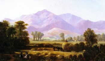 Mount Diablo from Near Pleasanton | Edwin Deakin | oil painting
