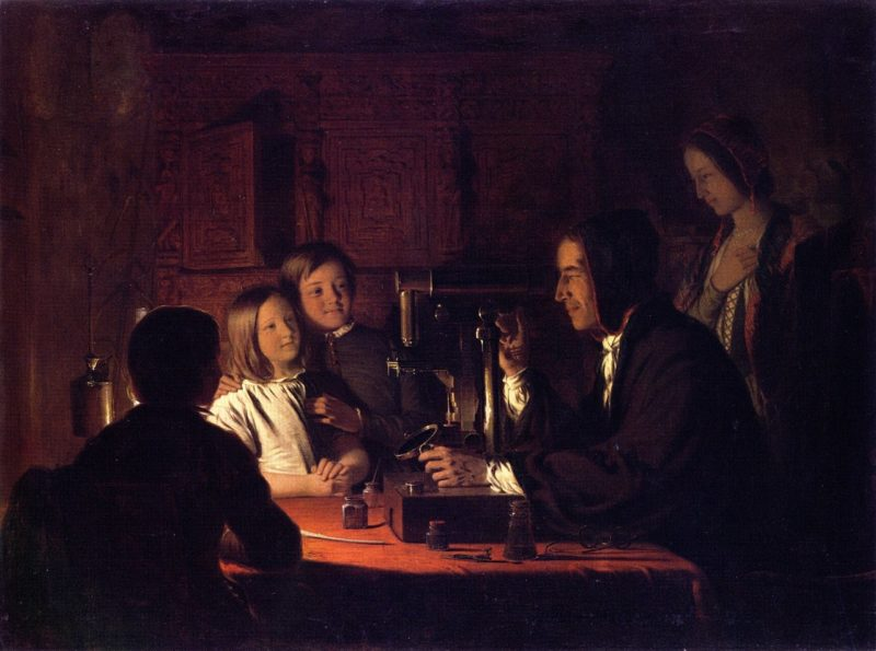 The Microscope   Robert Walter Weir   oil painting