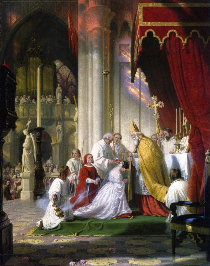 Taking the Veil   Robert Walter Weir   oil painting